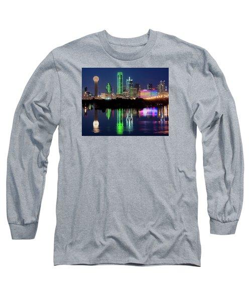 Dallas Skyline Reflection 91317 Long Sleeve T-Shirt