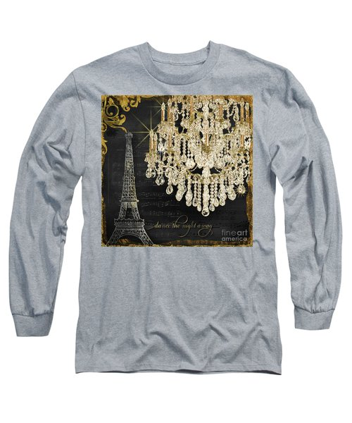 Long Sleeve T-Shirt featuring the mixed media Dance The Night Away 1 by Audrey Jeanne Roberts