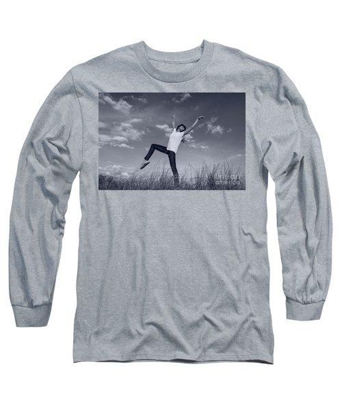 Dancing At The Beach Long Sleeve T-Shirt by Amyn Nasser