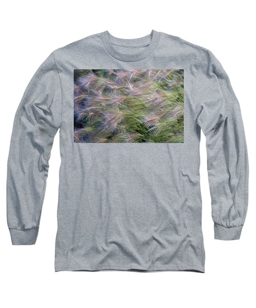 Dancing Foxtail Grass Long Sleeve T-Shirt