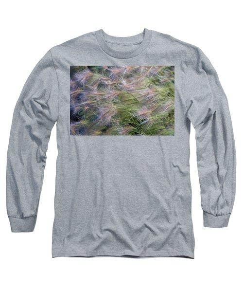 Dancing Foxtail Grass Long Sleeve T-Shirt