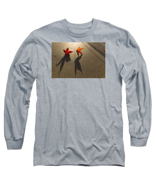 Long Sleeve T-Shirt featuring the photograph Dancing Leaves by Lora Lee Chapman