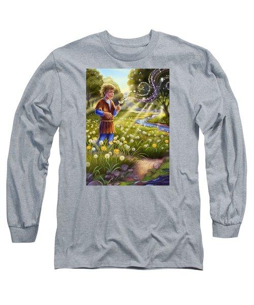 Dandelion - Make A Wish Long Sleeve T-Shirt