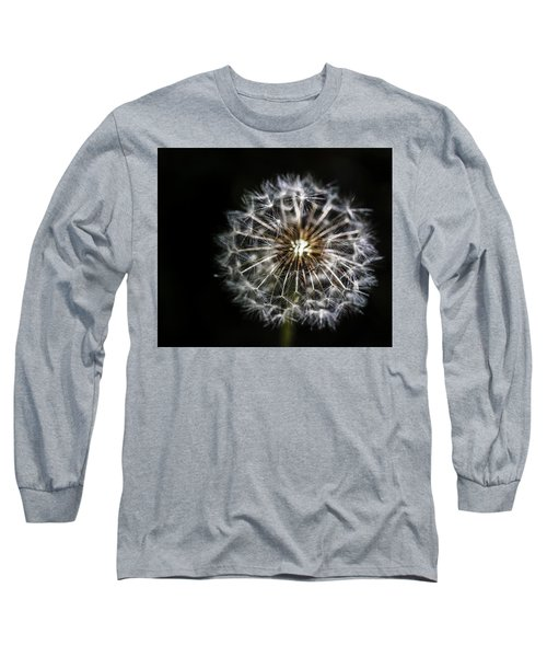 Long Sleeve T-Shirt featuring the photograph Dandelion Seed by Darcy Michaelchuk