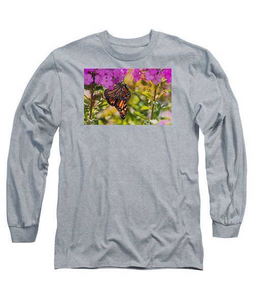 Dangling Monarch   Long Sleeve T-Shirt by Yumi Johnson
