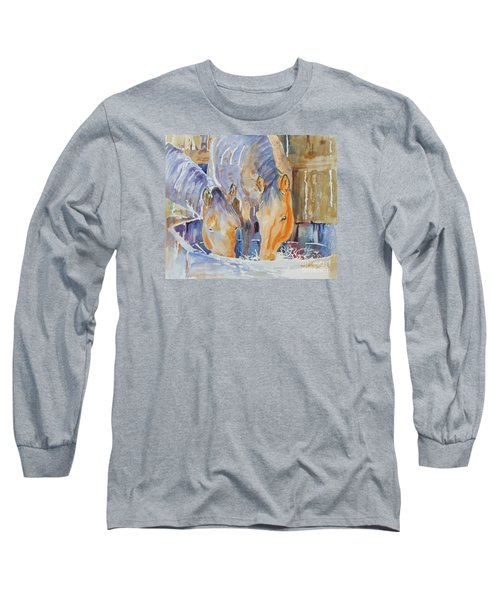 Dappled Sunlight Long Sleeve T-Shirt by Mary Haley-Rocks