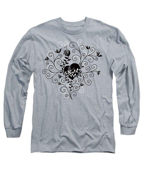 Dark Abstract Fixed Broken Heart Long Sleeve T-Shirt