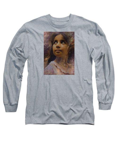 Dark Eyed Beauty Long Sleeve T-Shirt