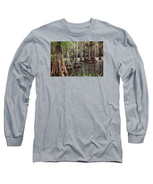 Dark Swamp Long Sleeve T-Shirt by Ester  Rogers