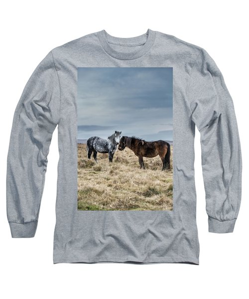 Dartmoor Ponies On Dartmoor Long Sleeve T-Shirt