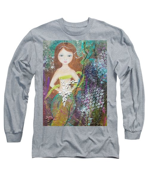 Daughter Of The Sea Long Sleeve T-Shirt by Virginia Coyle