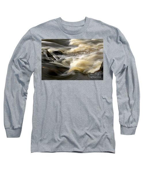 Long Sleeve T-Shirt featuring the photograph Dave's Falls #7431 by Mark J Seefeldt