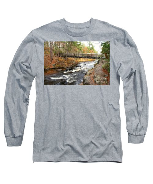 Long Sleeve T-Shirt featuring the photograph Dave's Falls #7480 by Mark J Seefeldt
