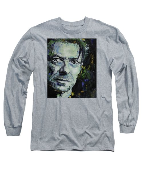 David Bowie Long Sleeve T-Shirt by Richard Day
