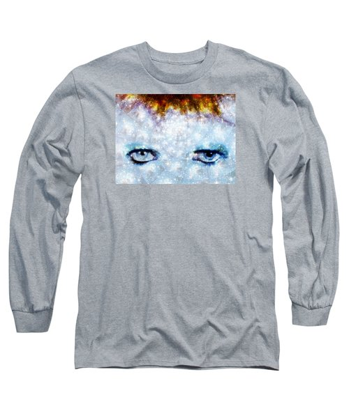 David Bowie / Stardust Long Sleeve T-Shirt by Elizabeth McTaggart