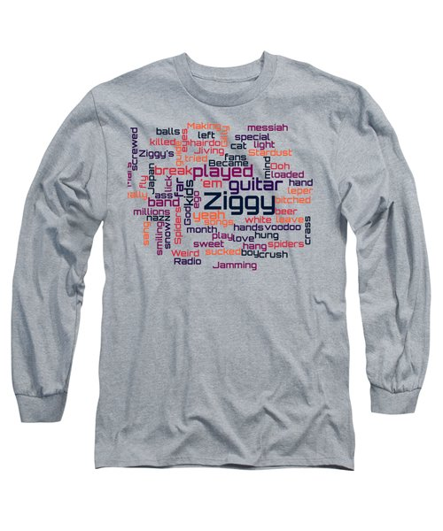 David Bowie - Ziggy Stardust Lyrical Cloud Long Sleeve T-Shirt