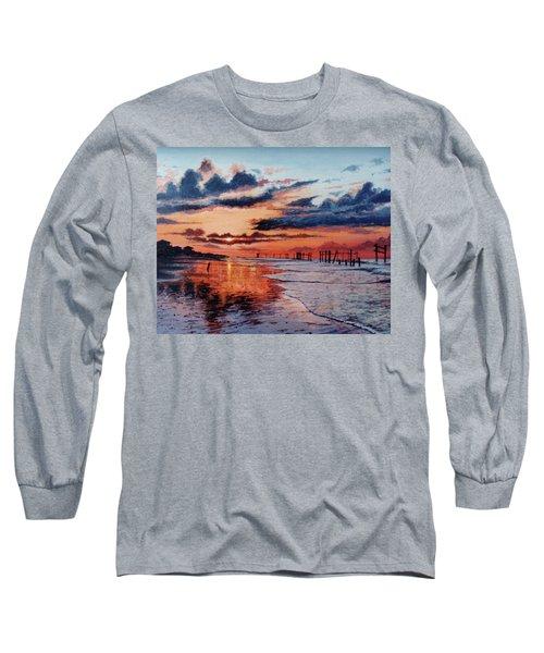 Dawn On Crystal Beach Long Sleeve T-Shirt