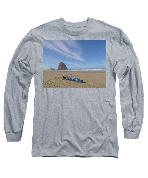 Long Sleeve T-Shirt featuring the photograph Day At Haystack Rock by Suzy Piatt