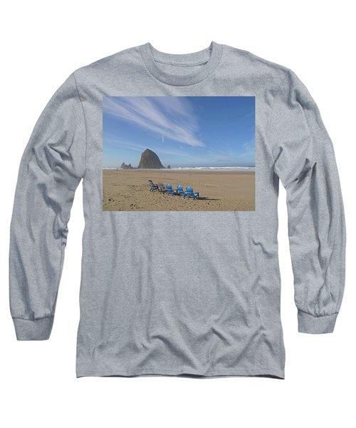 Day At Haystack Rock Long Sleeve T-Shirt