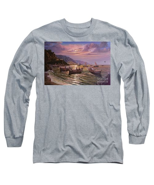 Day Ends On The Amalfi Coast Long Sleeve T-Shirt