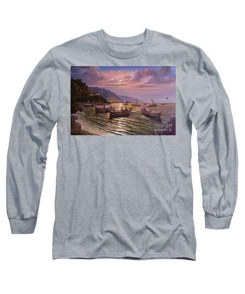 Day Ends On The Amalfi Coast Long Sleeve T-Shirt