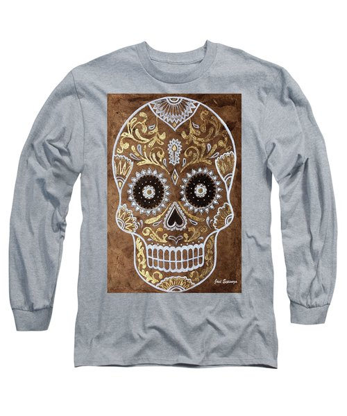 Long Sleeve T-Shirt featuring the painting Day Of Death by J- J- Espinoza