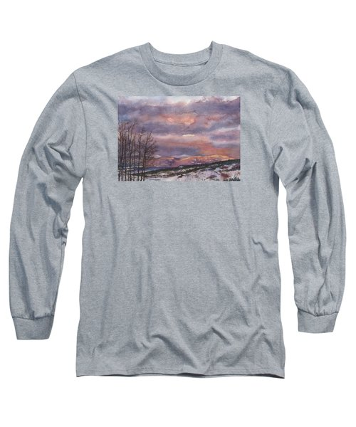 Daylight's Last Blush Long Sleeve T-Shirt by Anne Gifford