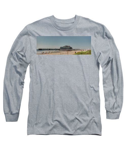 Daytona Beach Pier Pano Long Sleeve T-Shirt