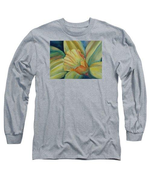 Dazzling Daffodil Long Sleeve T-Shirt by Ruth Kamenev