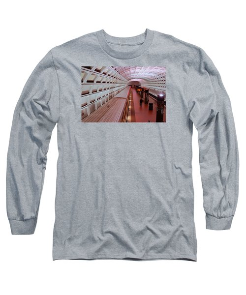 Long Sleeve T-Shirt featuring the photograph Dc Metro by James Kirkikis