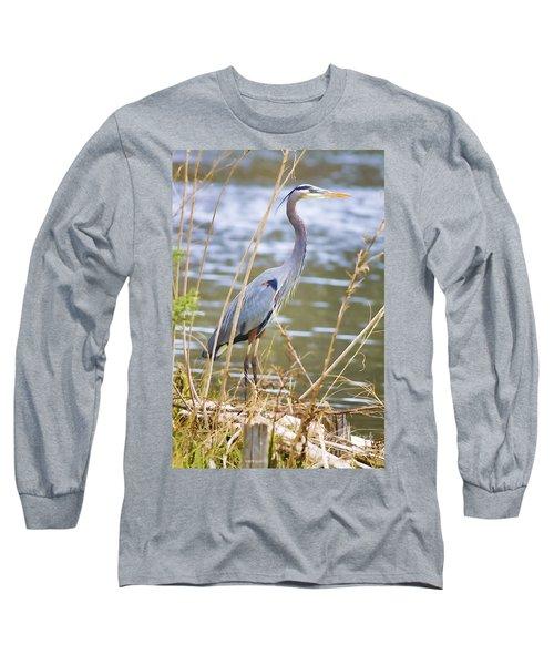 De Leon Springs Blue Long Sleeve T-Shirt by Deborah Benoit