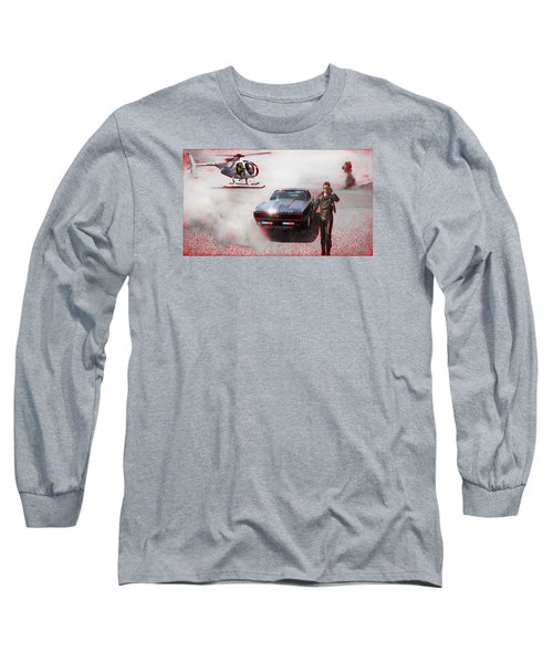 Deadly Pursuit Long Sleeve T-Shirt by Michael Cleere