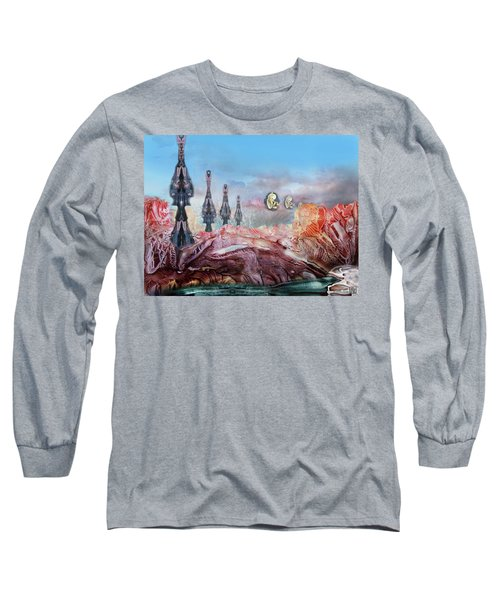 Decalcomaniac Transmission Towers Long Sleeve T-Shirt
