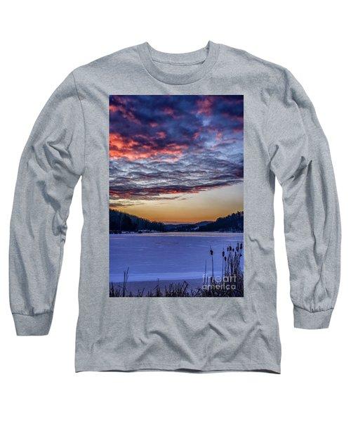 December Dawn On The Lake Long Sleeve T-Shirt