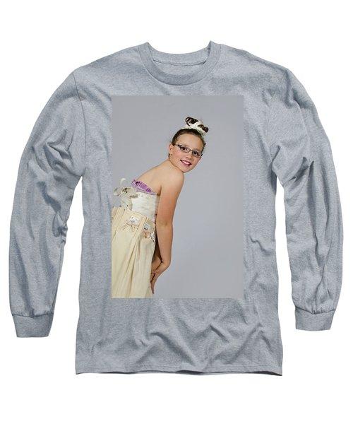 Deedee In A 1950s Style Dress Long Sleeve T-Shirt