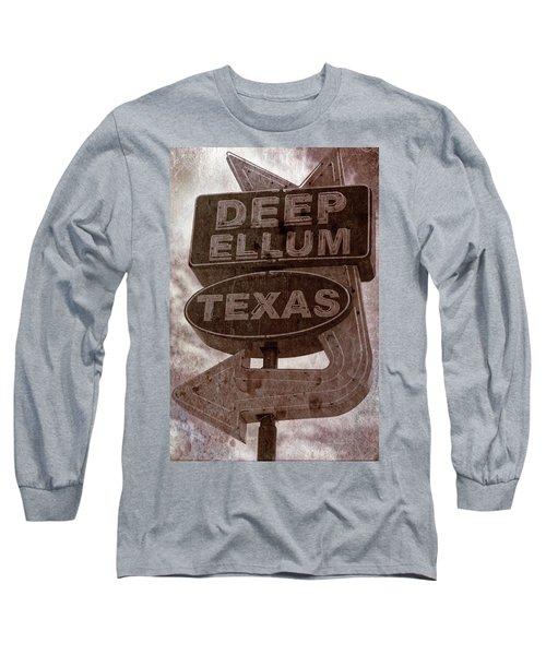 Deep Ellum Texas Long Sleeve T-Shirt by Jonathan Davison