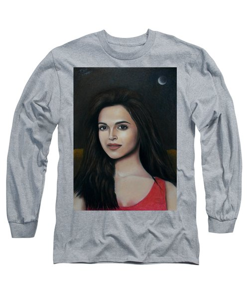 Deepika Padukone - The Enigmatic Expression Long Sleeve T-Shirt