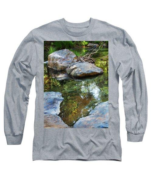 Deer Creek Point Print Long Sleeve T-Shirt