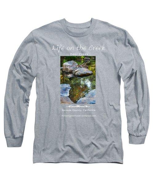 Deer Creek Point - White Text Long Sleeve T-Shirt