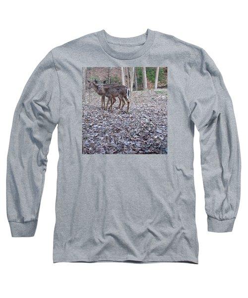 Long Sleeve T-Shirt featuring the photograph Deer Deer Me  -comp- by Cliff Spohn