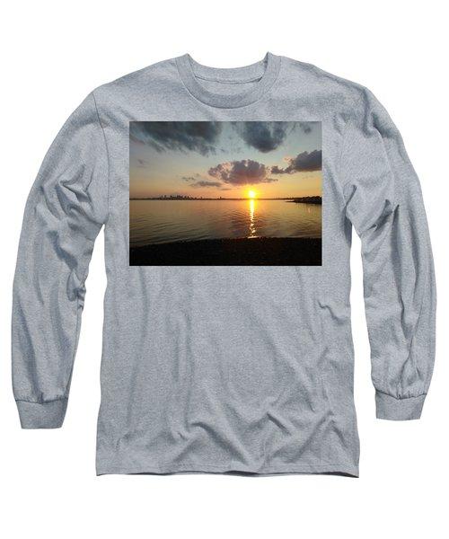 Deer Island Sunset Long Sleeve T-Shirt