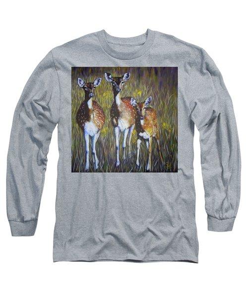 Deer On Guard Long Sleeve T-Shirt