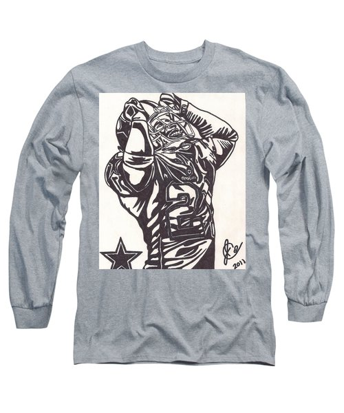 Long Sleeve T-Shirt featuring the drawing Deion Sanders by Jeremiah Colley