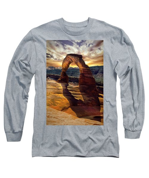 Delicate Arch Long Sleeve T-Shirt by James Bethanis