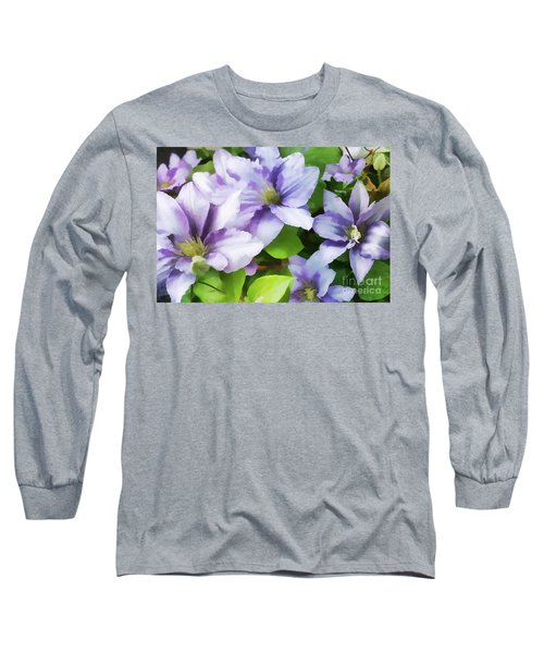 Delicate Climbing Clematis  Long Sleeve T-Shirt