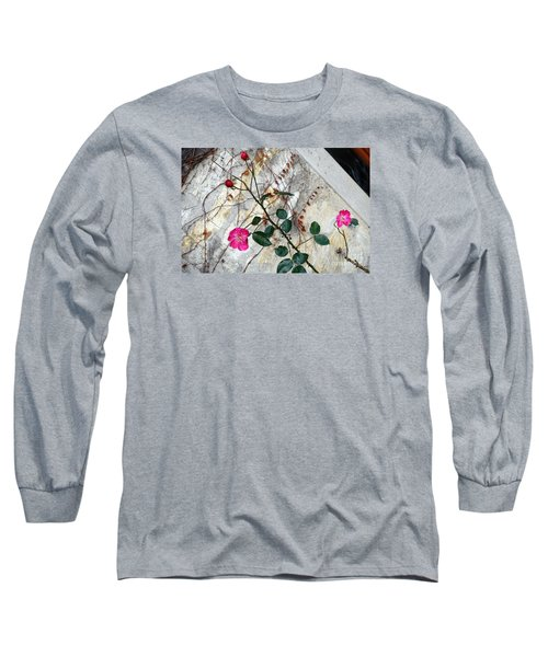 Delicate Rose In December Long Sleeve T-Shirt