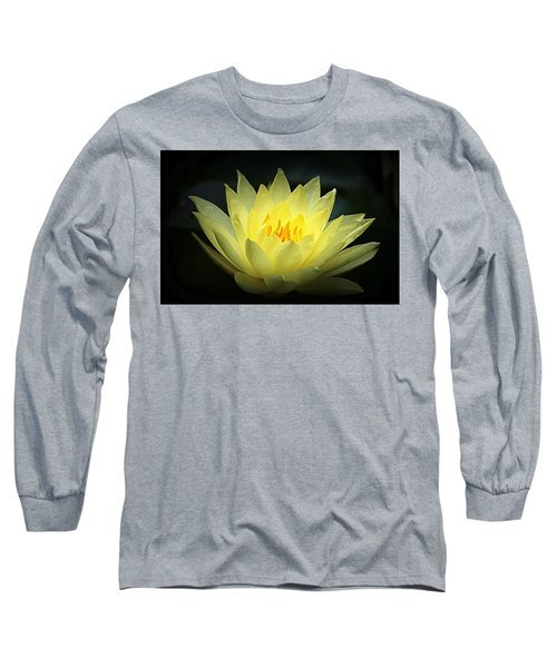 Delicate Water Lily Long Sleeve T-Shirt by Lori Seaman