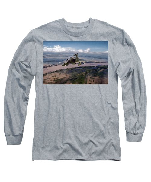 Long Sleeve T-Shirt featuring the digital art Delta Deliverance by Peter Chilelli