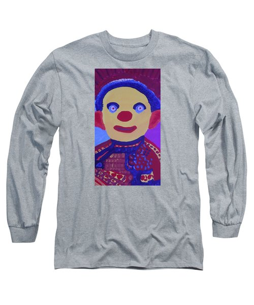 Long Sleeve T-Shirt featuring the painting Demented Clownboy by Don Koester