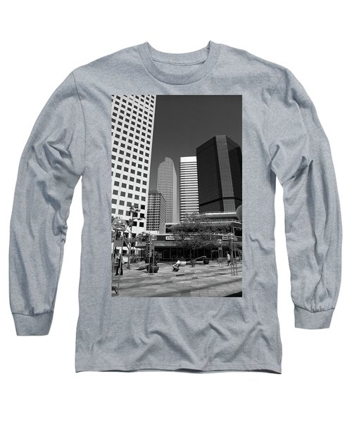 Denver Architecture Bw Long Sleeve T-Shirt by Frank Romeo